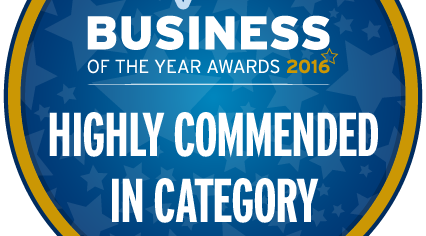 Highly Commended in Business of the Year 2016 National Competition